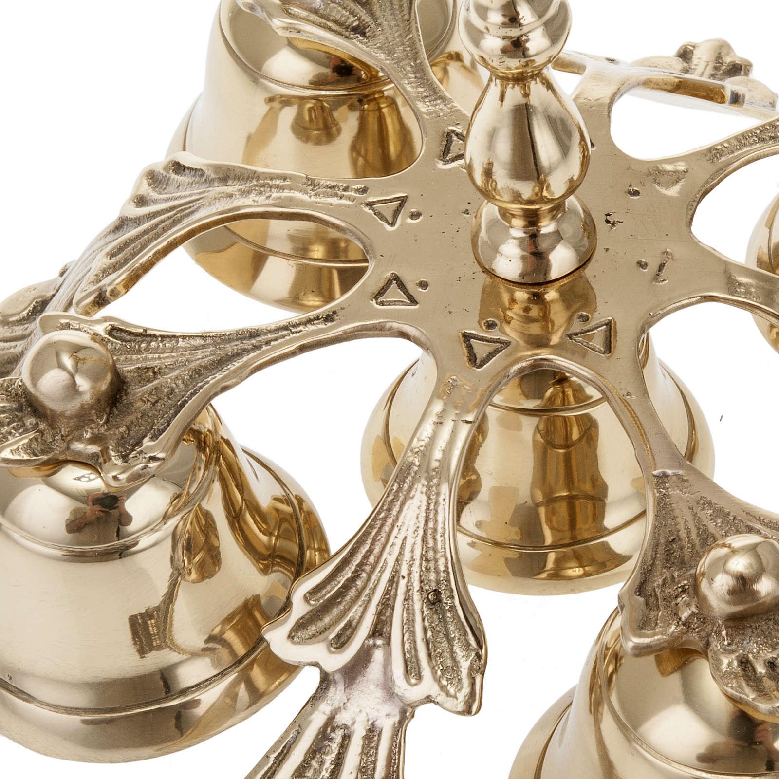 Dzwonek liturgiczny pięcioelementowy dekorowany 3
