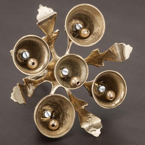 Dzwonek liturgiczny pięcioelementowy dekorowany 5