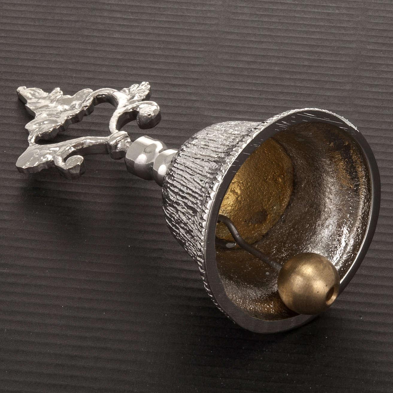 Dzwonek liturgiczny jednotonowy rowkowany mosiądz 3