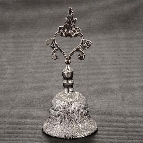 Dzwonek liturgiczny jednotonowy rowkowany mosiądz 2