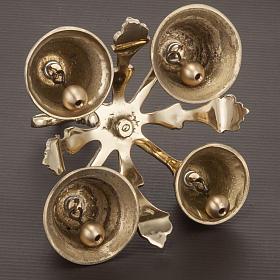 Campanello liturgico a quattro suoni decorato dorato s4