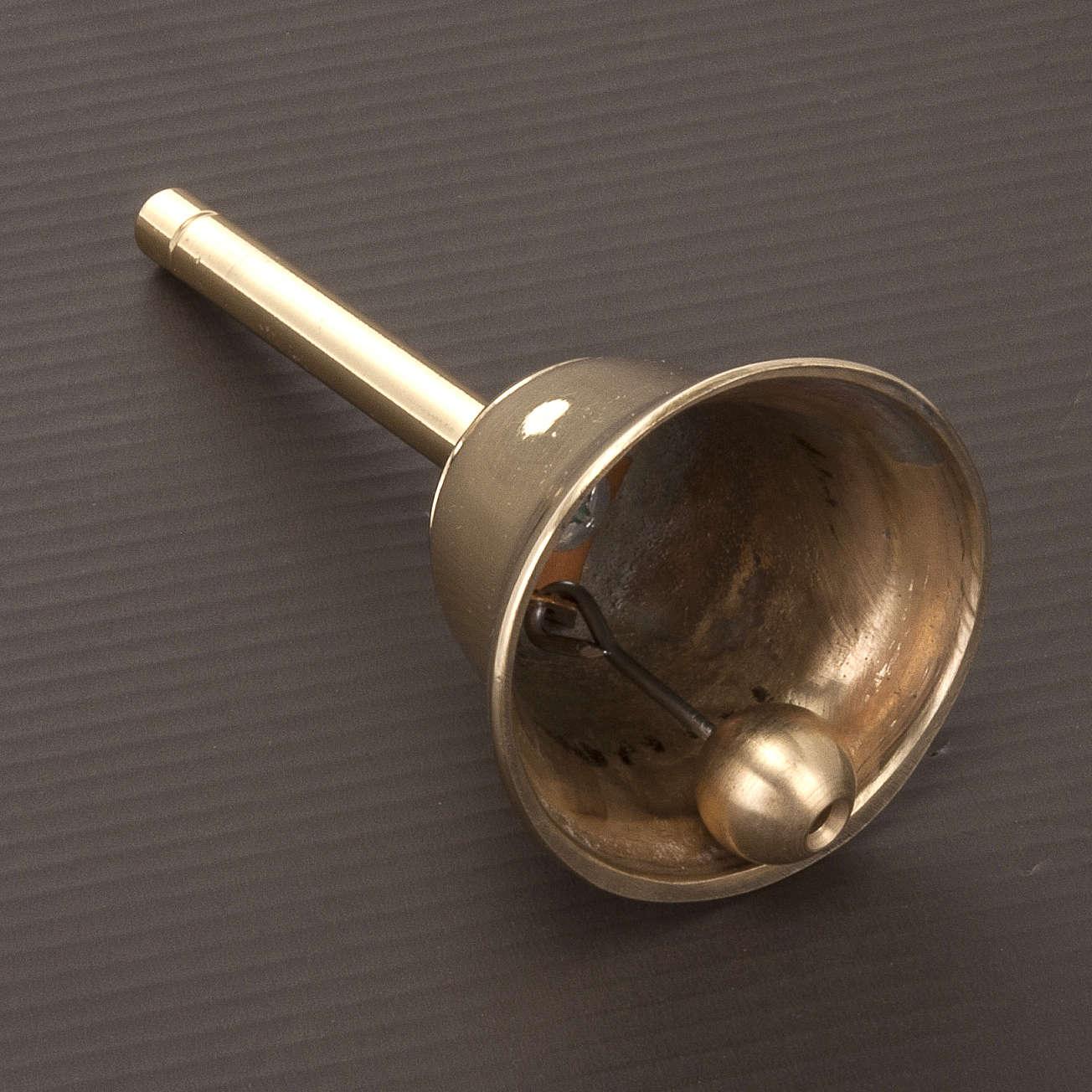 Campanello liturgico a un suono con manico dorato 3