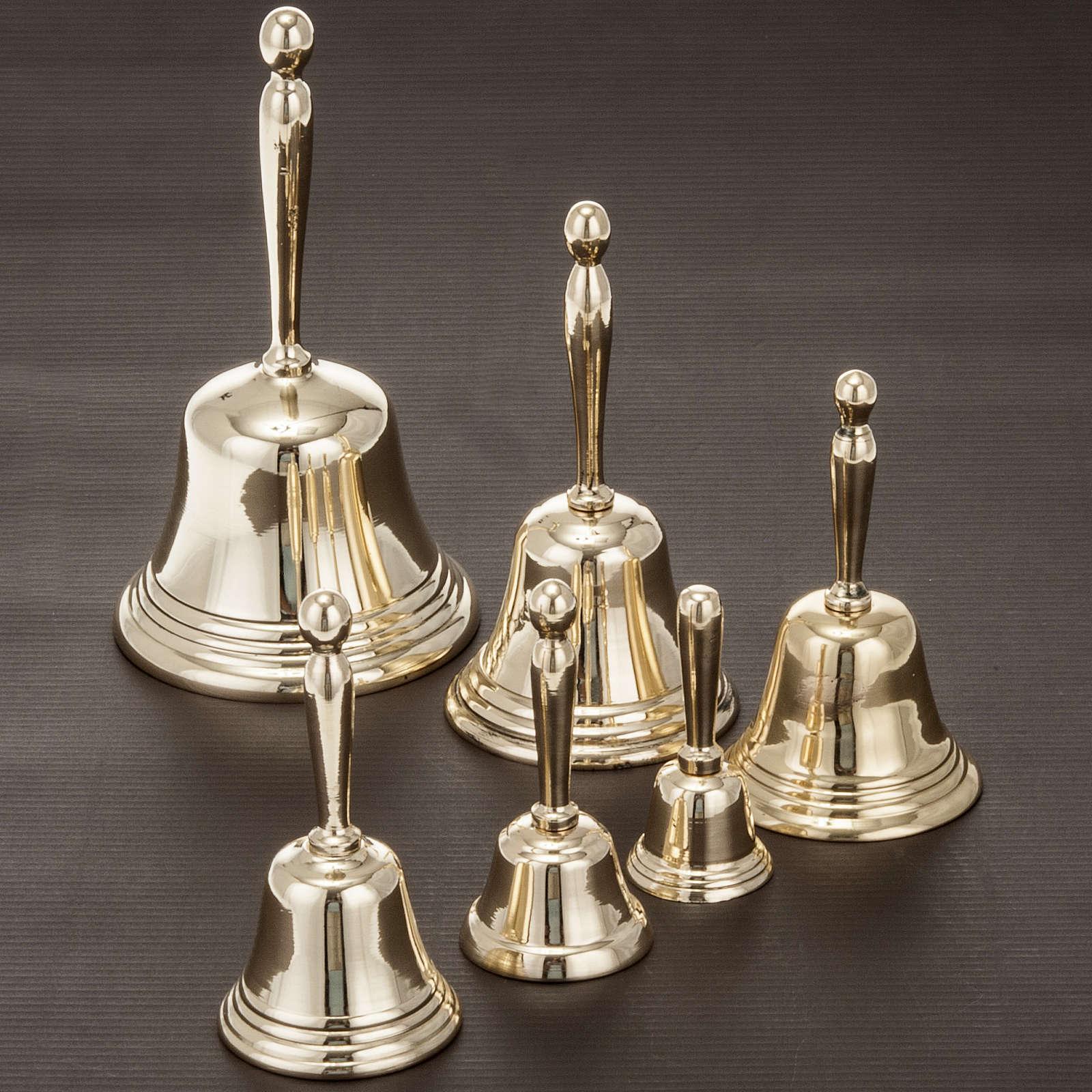 Clochette liturgique un seul son doré diverses mesures 3