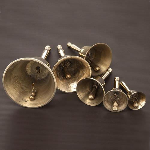 Dzwonek liturgiczny pojedynczy pozłacany różne wielkości 4