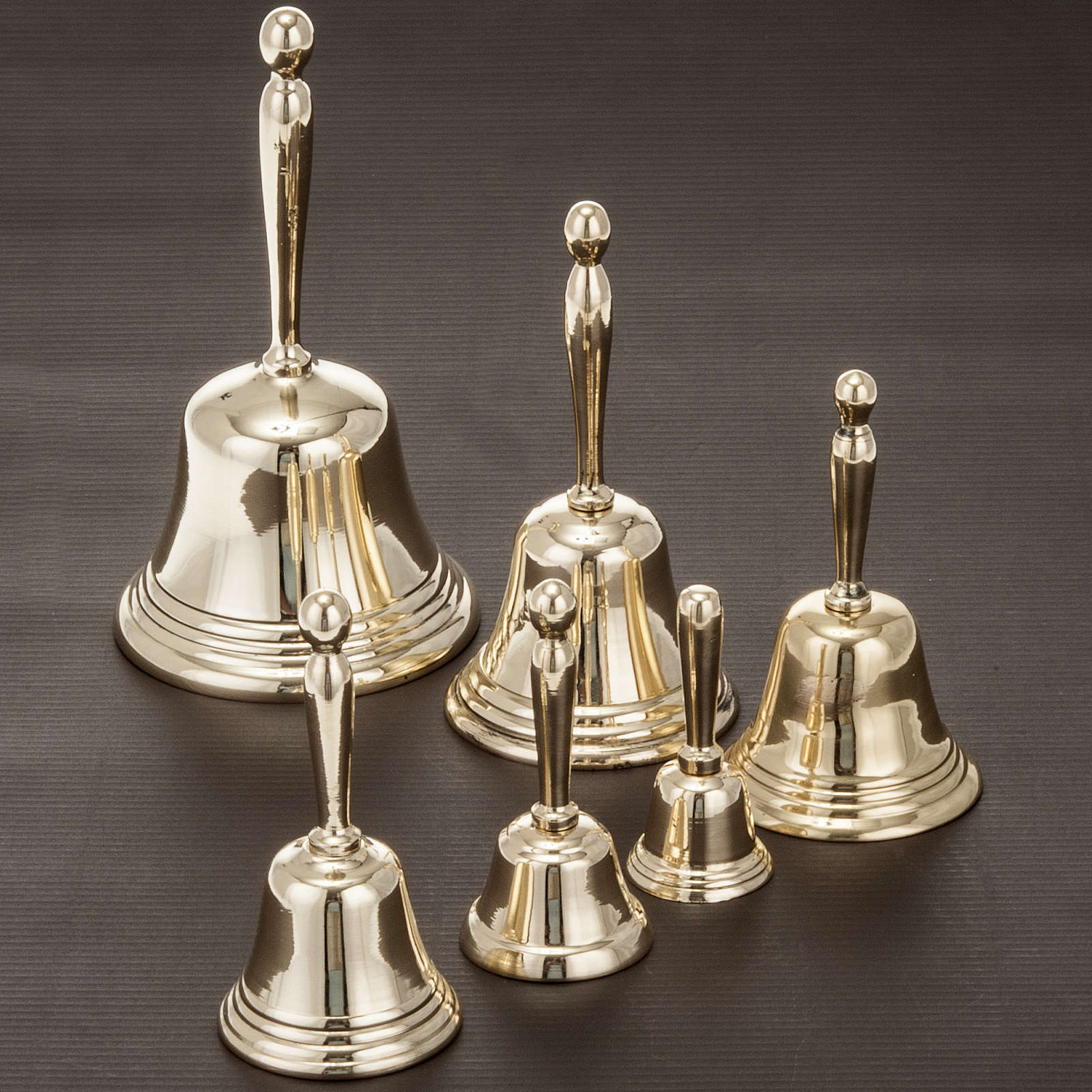 Liturgical bell with golden handle different sizes 3