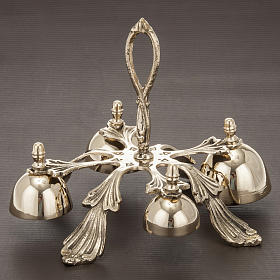 Church hand bell four sounds golden-plated decorated s3