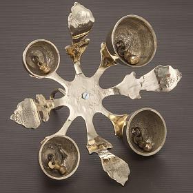 Carillon d'autel à quatre sons décoré doré s4