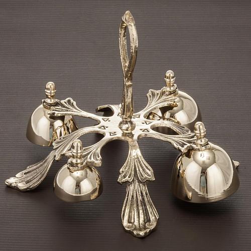 Carillon d'autel à quatre sons décoré doré 2