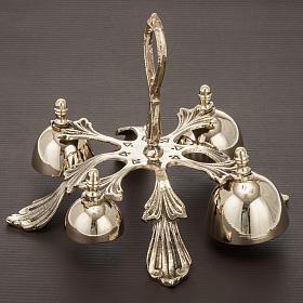 Campanello liturgico a quattro suoni decorato dorato s2