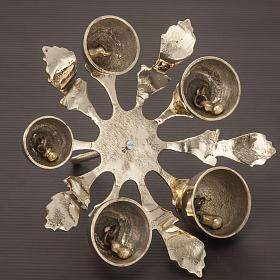 Dzwonek liturgiczny pięcioelementowy dekorowany pozłacany s3