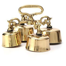 Dzwonki, sygnaturki, gongi: Dzwonek liturgiczny niemiecki poczwórny