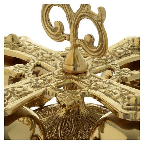 Campanilla litúrgica cuatro sonidos latón dorado 6