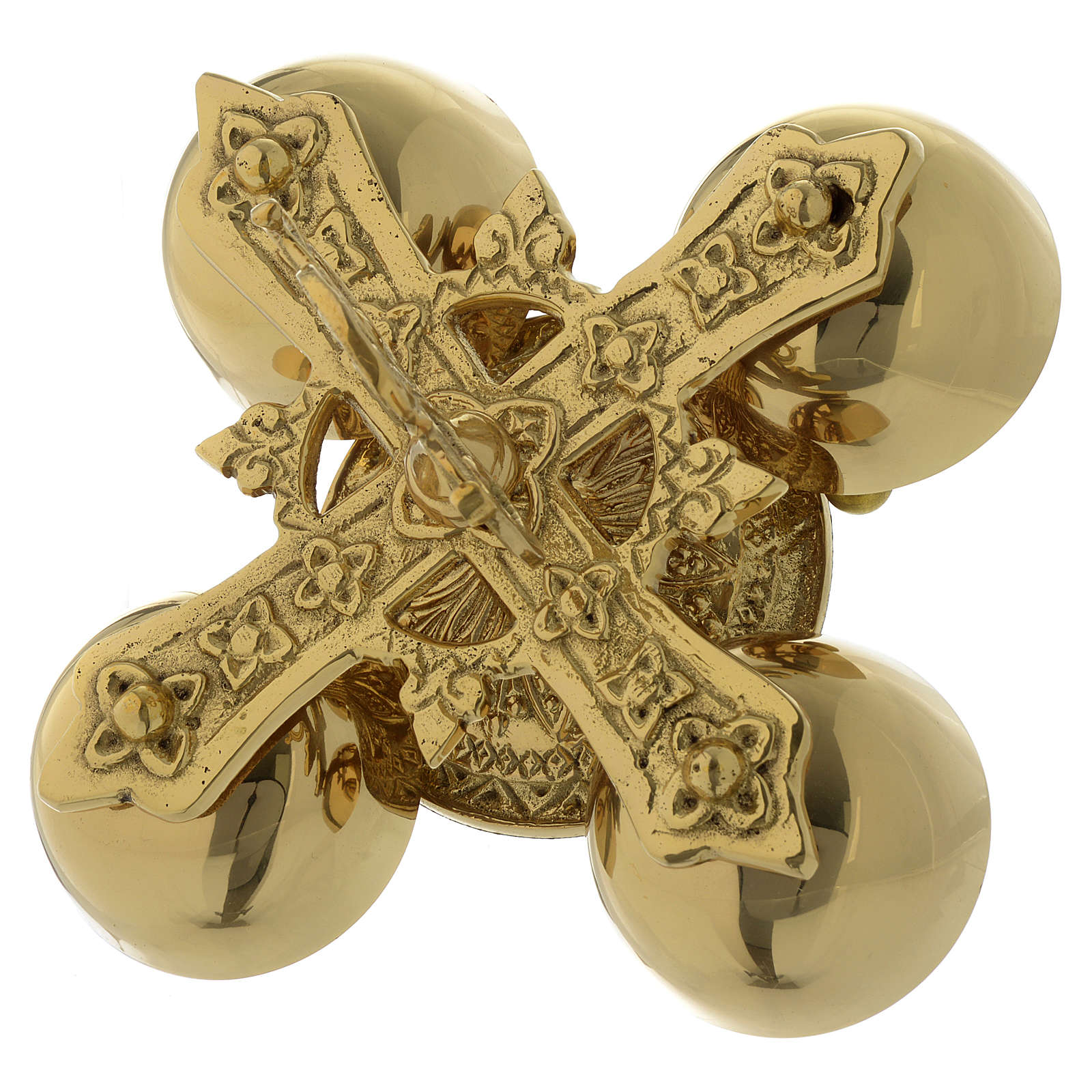 Carillon liturgique quatre timbres laiton doré 3