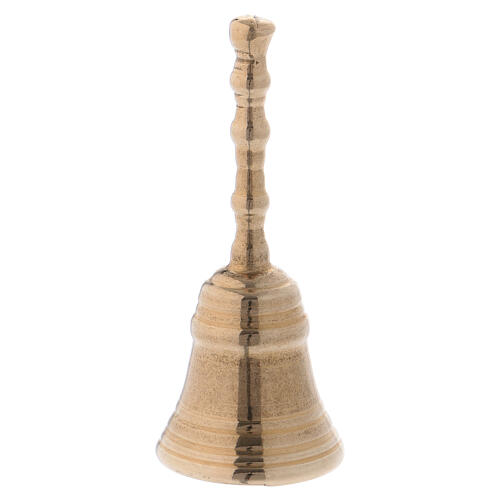 Altar hand bell in gold plated brass diameter 3 1/2 in 1