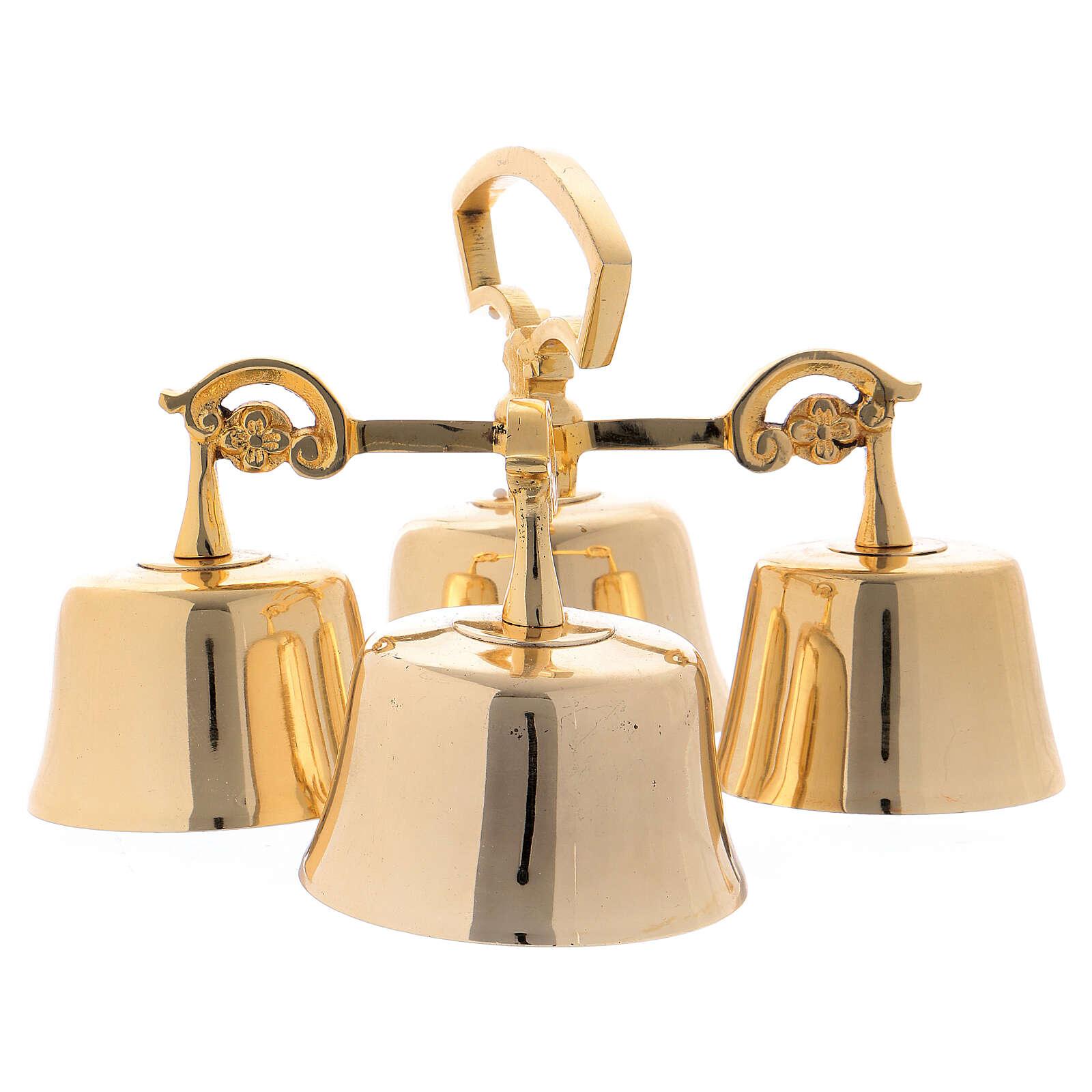 4 sounds golden brass liturgical bell 3