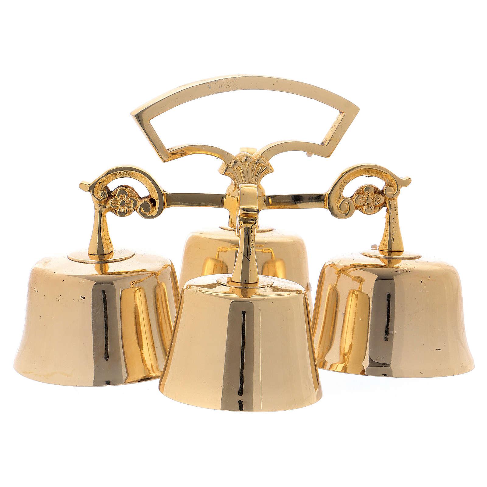 Campanello Liturgico 4 suoni ottone dorato 3