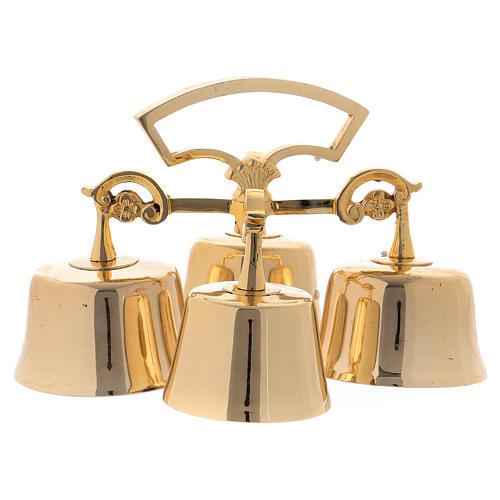 Campanello Liturgico 4 suoni ottone dorato 2