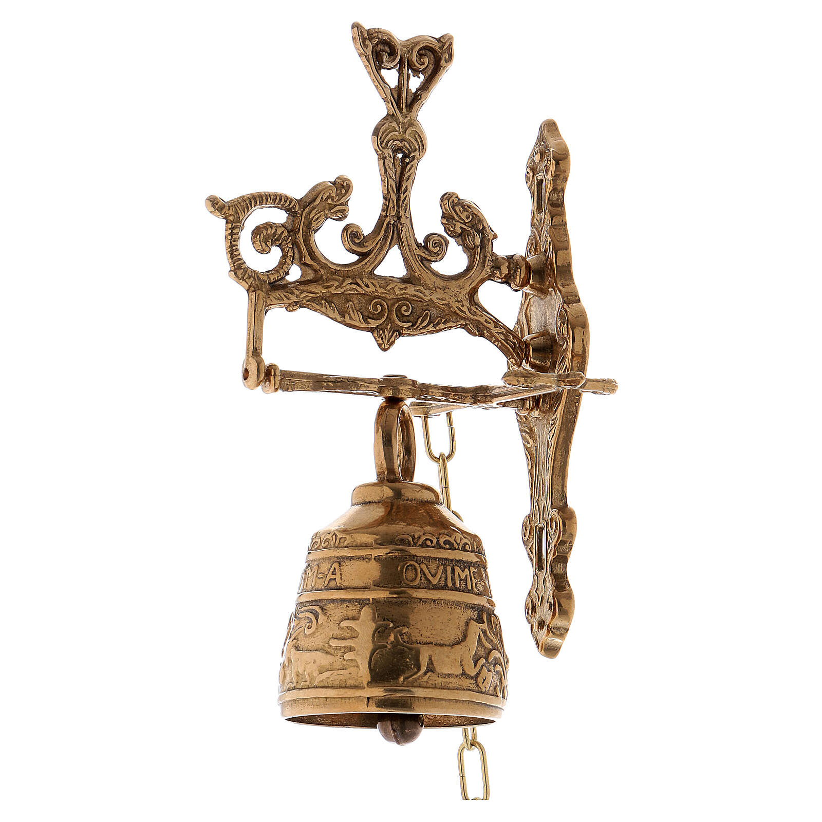 Wall bell with chain 2 3/4 in 3