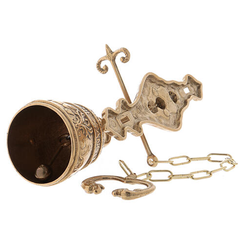 Wall bell with chain 2 3/4 in 5