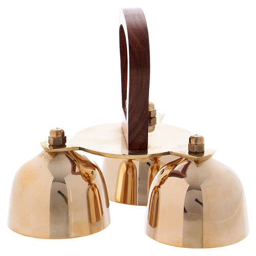 Liturgical bell 3 sounds with wooden handle 2