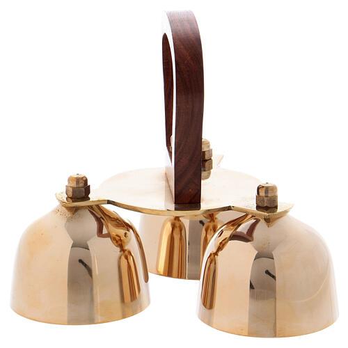 Altar bells 3 tones wood handle 2