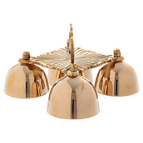 Decorated altar bells 4 tones in gold plated brass s2