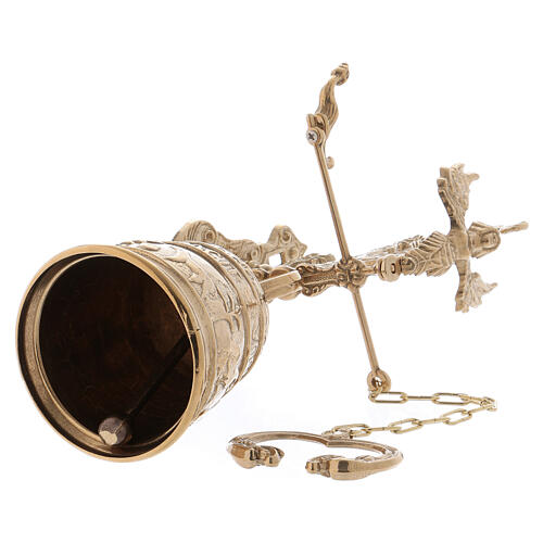 Wall liturgical bell with chain h 13 in 5