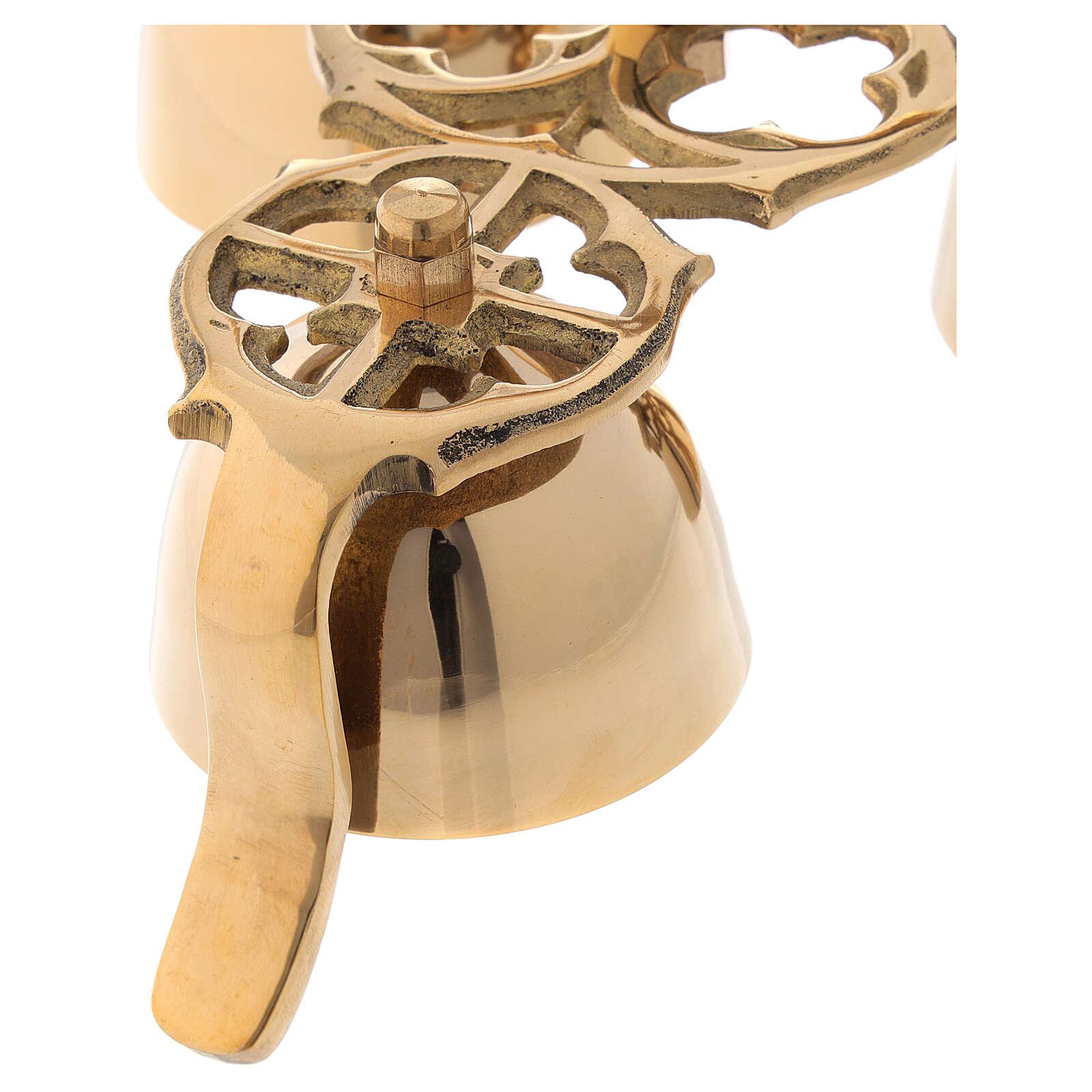 Campanilla litúrgica tres campanas motivo gótico 3