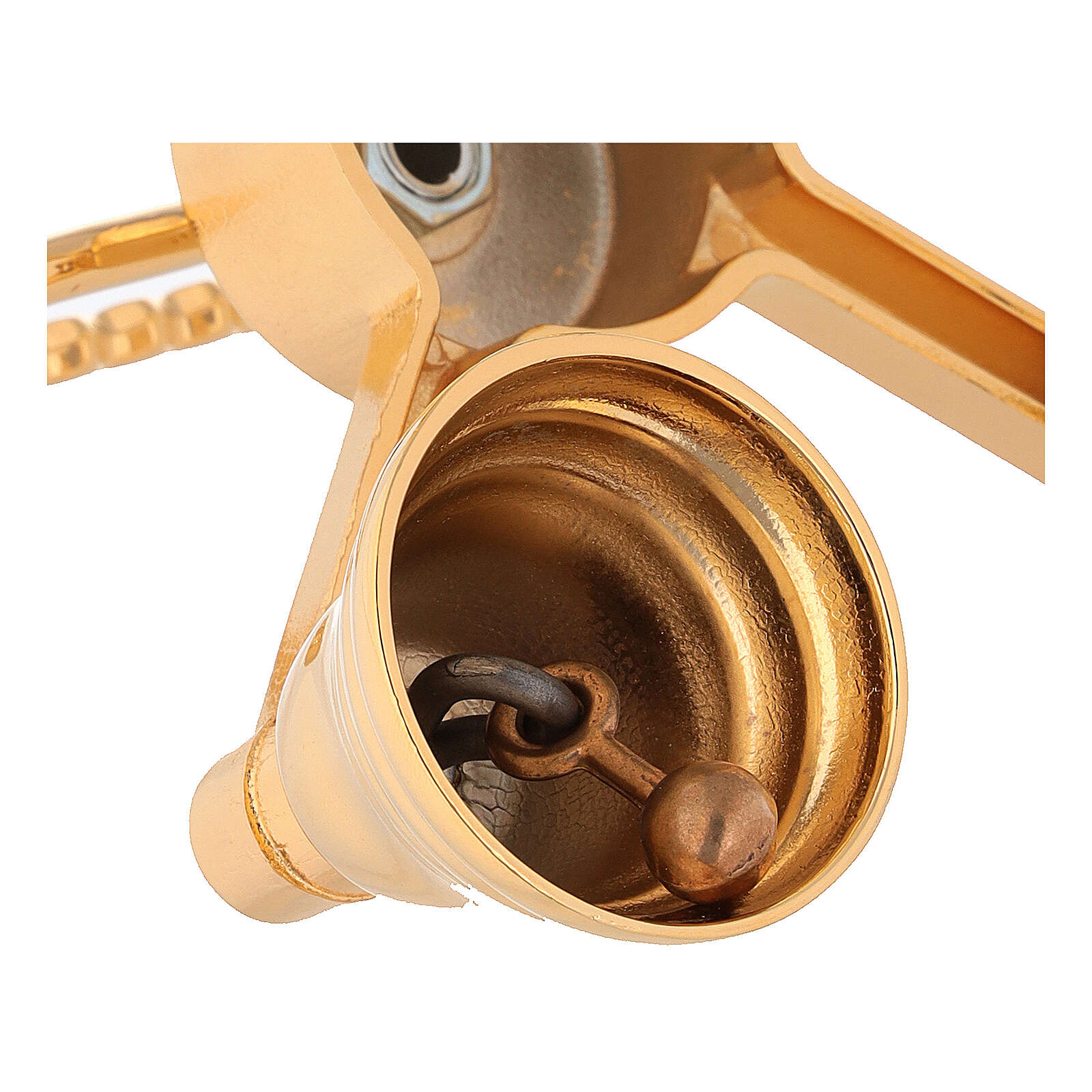 Brass bell with four sounds in golden brass 3
