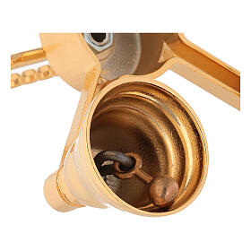 Brass bell with four sounds in golden brass s4