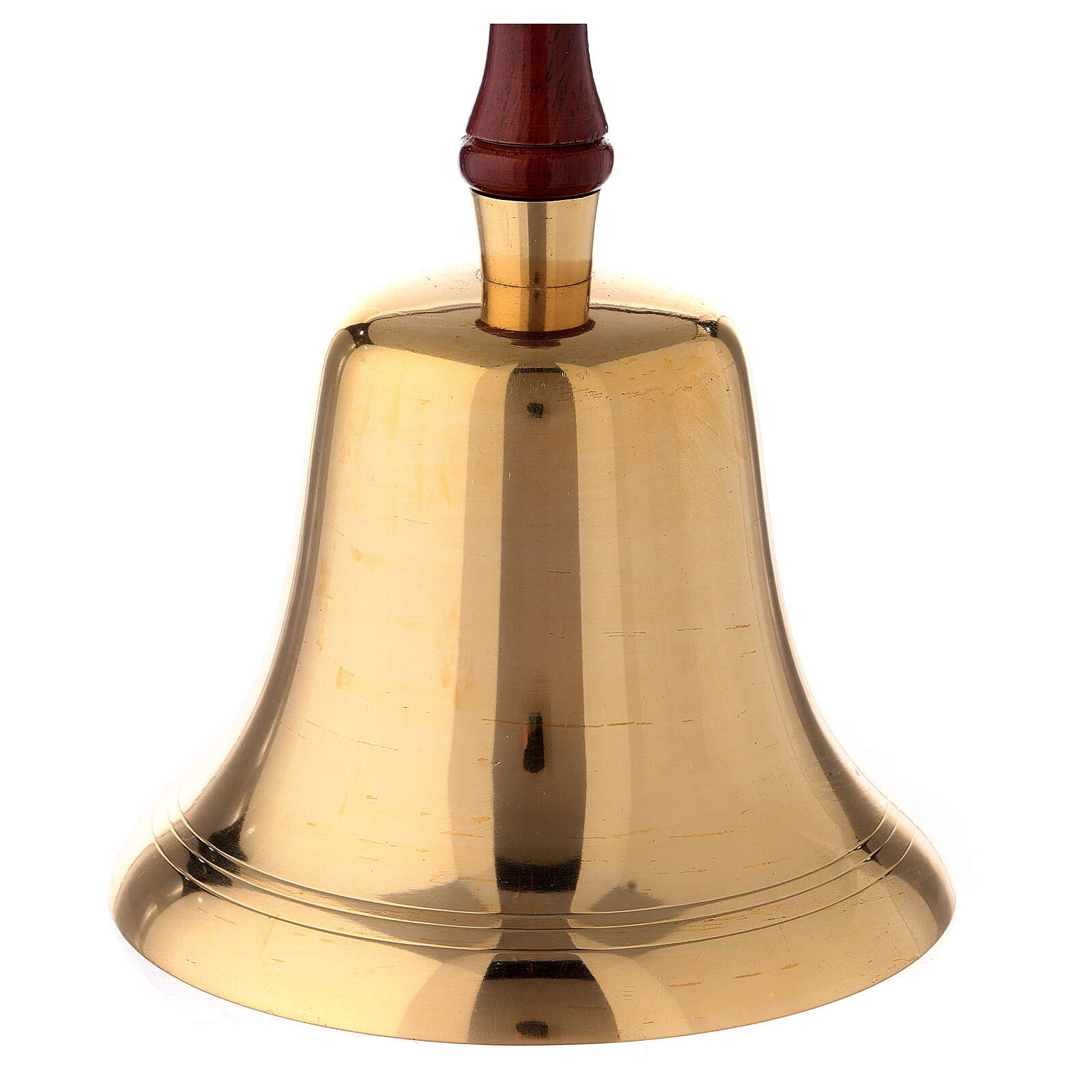 Campanello ottone manico legno 26 cm 3