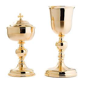 Cálice e píxide Malta ouro acetinado e brilhante s5