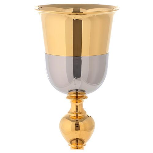 Kelch Pyxis Malta glaenzende Silbrig und Gold