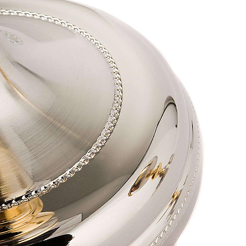 Calice e Pisside Malta argento satinato e oro 4