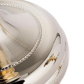 Calice e Pisside Malta argento satinato e oro s5