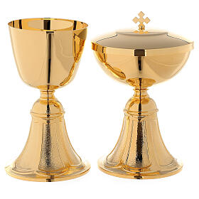 Chalice and Ciborium with cast brass foot s1