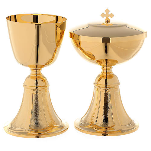 Chalice and Ciborium with cast brass foot 1