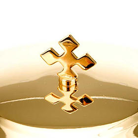 Chalice and ciborium with pewter decoration s2