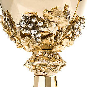 Chalice and ciborium with pewter decoration s6