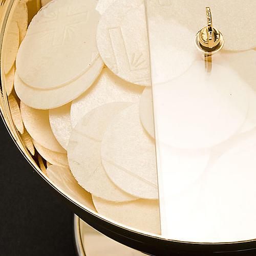 Ziborium mit drehbaren Plexiglas-Deckel für ca. 250 Hostien