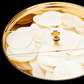 Ciboire doré couvercle tournante plexiglas s3