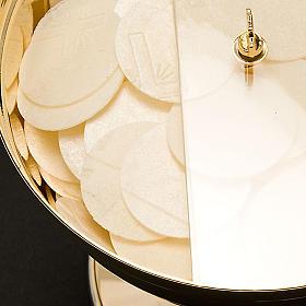 Golden Ciborium with plexiglass rotating lid s2