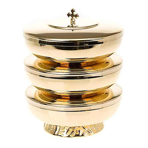 Stacking ciboria with cross lid 1
