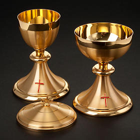Cáliz y Copón dorados con cruz s2