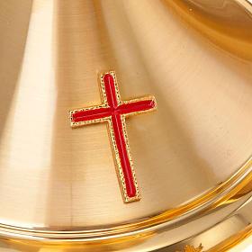 Calice et ciboire dorés avec croix s4