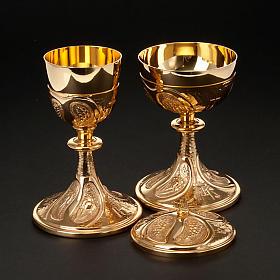 Kielich i puszka rzeźbione winogrona kłosy zboża s6