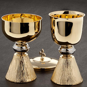 Chalice and ciborium with decorated base s2