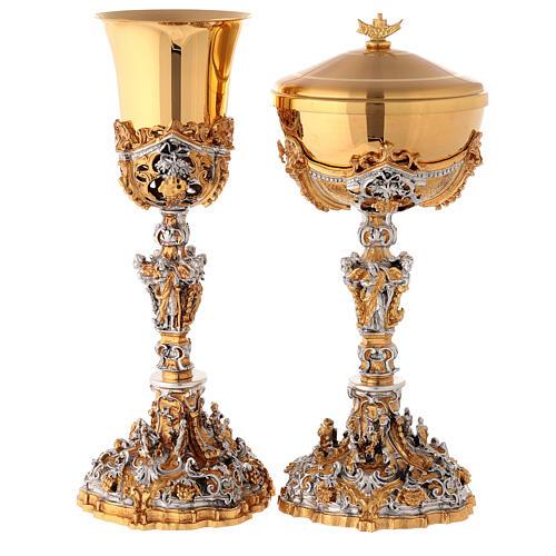 Calice argento e Pisside dorata argentata natività 1