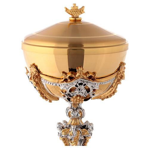 Calice argento e Pisside dorata argentata natività 15