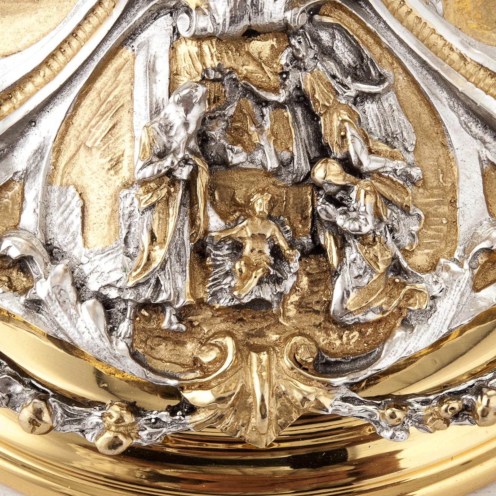 Calice argento e Pisside annunciazione crocifissione natività 4
